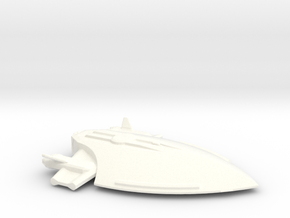 Federation attack ship in White Strong & Flexible Polished