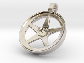 Vossen LC101 KeyChain Pendant 35mm in Rhodium Plated