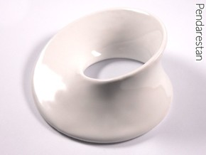Minimal Mobius Porcelain (4 in) in Gloss White Porcelain