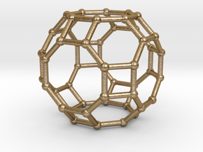 0287 Great Rhombicuboctahedron V&E (a=1cm) #002 in Polished Gold Steel