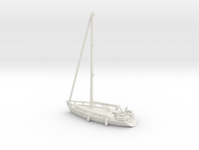 Sailboat 01.Z Scale (1:220) in White Strong & Flexible