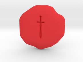 Valor Runestone in Red Strong & Flexible Polished