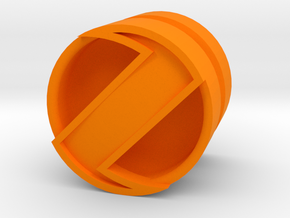 SPINNER_1814CS_RIGHT - LEGO-compatible Custom Rims in Orange Strong & Flexible Polished