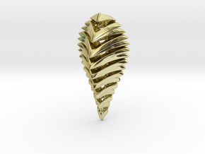 skeleton abstract, pendant in 18K Gold Plated