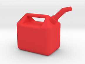 1/10 Scale Gas Can in Red Strong & Flexible Polished
