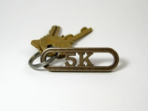 5K Runner's Keychain in Stainless Steel