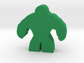 Brute Hero Meeple in Green Strong & Flexible Polished