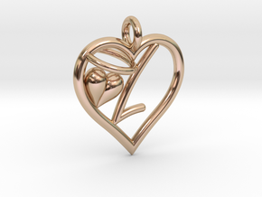 HEART L in 14k Rose Gold Plated
