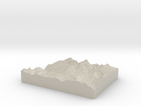 Model of Needle Mountains in Sandstone