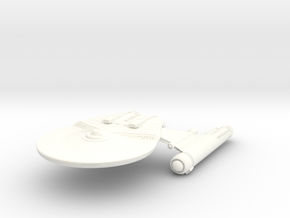 Falcon Class HvyCruiser in White Strong & Flexible Polished