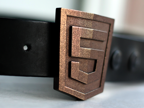 HTML5 Belt Buckle in Matte Bronze Steel