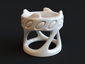 Tealight Holder in White Strong & Flexible Polished