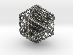 Flower Of Life Vector Equilibrium in Polished Silver