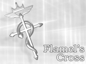 Flamel's Cross in Stainless Steel