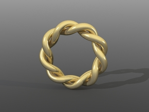 Size 7 Spiral Ring in White Strong & Flexible