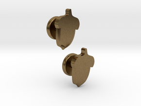 Acorn Cufflinks in Raw Bronze