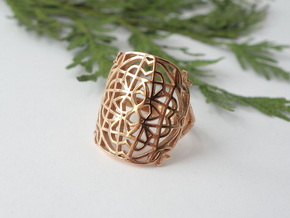 Medieval Lace Ring - Size 8.5 in 14k Rose Gold Plated