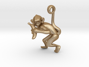 3D-Monkeys 230 in Matte Gold Steel