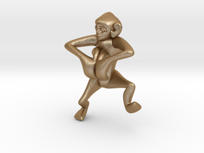 3D-Monkeys 271 in Matte Gold Steel