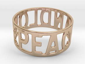 Peaceandlove 80 Bracelet in 14k Rose Gold Plated