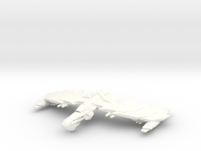 GhostHawk Class VI  BattleCruiser in White Strong & Flexible Polished