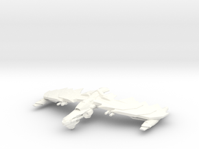 GhostHawk Class VI  BattleCruiser  Small in White Strong & Flexible Polished