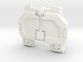 Pessimist Roadwarrior's IDW Chest Plate in White Strong & Flexible Polished