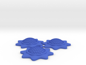 Stackable Shield Token 3 Pack for X-Wing Miniature in Blue Strong & Flexible Polished