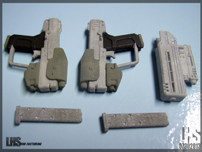 1/6 scale Magnum Akimbo Package Spruued Revised in White Strong & Flexible