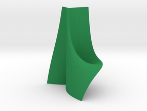 Cayley's Ruled Cubic (1 Pinch Point at Inf.) in Green Strong & Flexible Polished