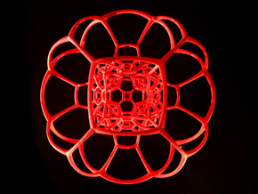 Inverted Truncated Octahedral Lattice in Red Strong & Flexible Polished