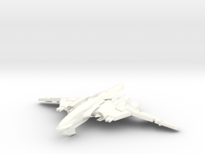 WingSerpent Class War Bird in White Strong & Flexible Polished
