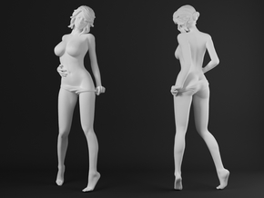 Panties girl 015 scale 1/20 Passed in White Strong & Flexible Polished