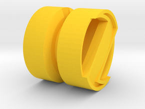 SPINNER_1814RS_RIGHT - LEGO-compatible Custom Rims in Yellow Strong & Flexible Polished