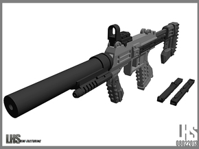 1/6 scale caseless SMG SOCOM Edition in White Strong & Flexible