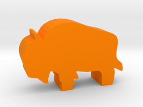 Game Piece, Bison in Orange Strong & Flexible Polished