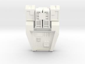 Transformers Warbotron Computron G1 Chest Plate  in White Strong & Flexible Polished