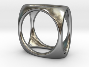Square Ring model A - size 10 in Polished Silver