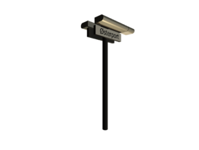 DSB K74 Stations lampe med stations skilt (dobbelt in White Strong & Flexible