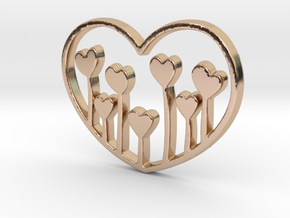Heart's Garden Pendant - Amour Collection in 14k Rose Gold Plated