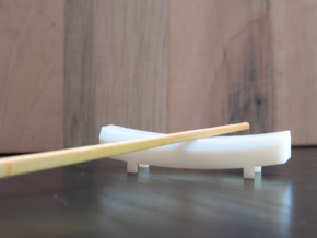 TORii chopstick rest in White Acrylic