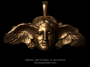 Hypnos, god of sleep, pendant (restored wing) in Raw Bronze