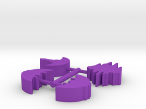 Game Piece, Hairtauri 4-set in Purple Strong & Flexible Polished