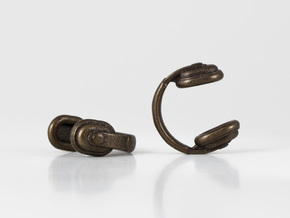 Headphones Cufflinks in Matte Bronze Steel