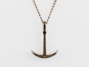 Anchor Necklace - Flat in Matte Bronze Steel