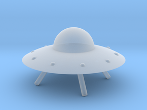 UFO with Landing Gear in Frosted Extreme Detail