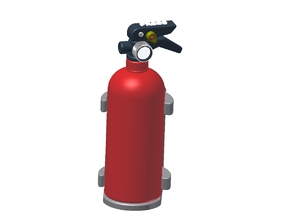 Fire Extinguisher Assembly in White Strong & Flexible Polished