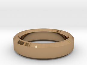 Ring Size 9 (Chamfered) in Polished Brass