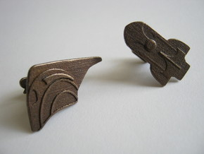 Rocketeer Cufflinks in Raw Bronze