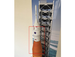 Orion SLS Adapter 1:72 in White Strong & Flexible